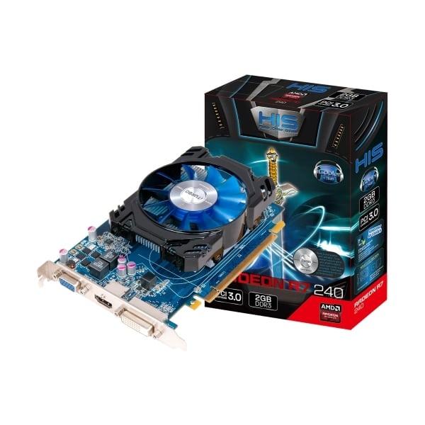 Новая игровая видеокарта HIS Radeon R7 240 iCooler 2Gb