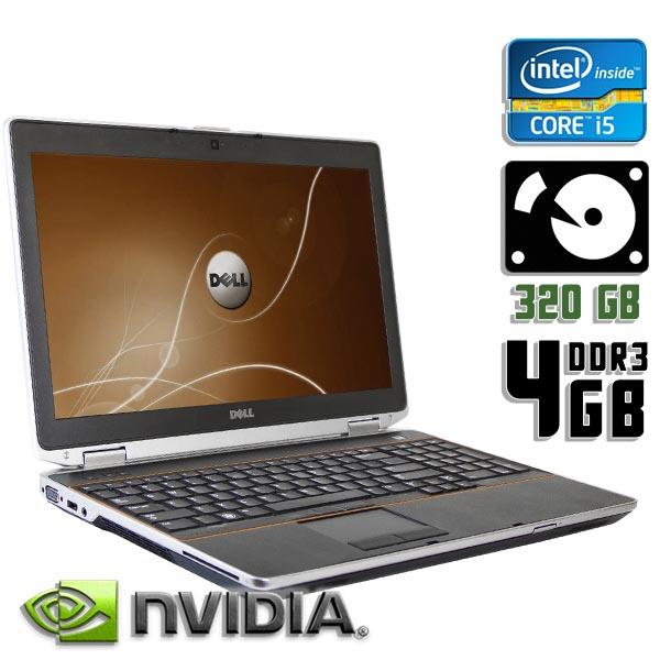 Ноутбук б/у 15,6″ Dell Latitude E6520 - Core i5 2Gen / NVS / 4Gb ОЗУ DDR3 / 320Gb HDD / камера