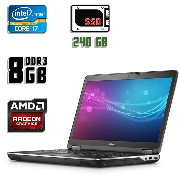 Игровой ноутбук б/у 15.6″ Dell latitude E6540 - Core i7 4810MQ / Radeon HD 8790 / 8Gb ОЗУ DDR3 / 240Gb SSD / камера