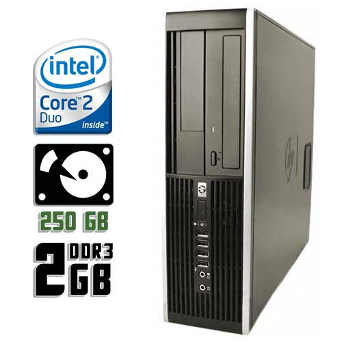 Компьютер б/у HP Compaq 8000 Elite SFF / 2-ядерный / 2Gb ОЗУ DDR3 / 250Gb HDD