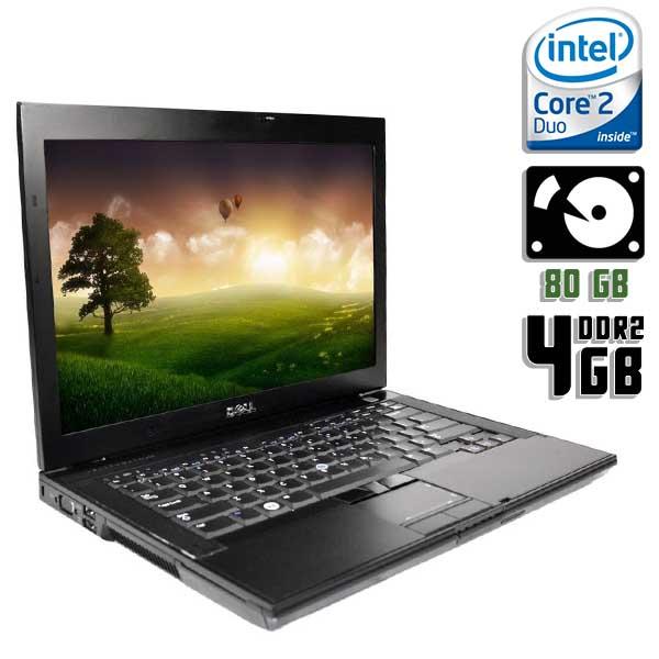 Ноутбук б/у 14,1″Dell Latitude E6400 / 2-ядерный / 4Gb ОЗУ / 80Gb HDD