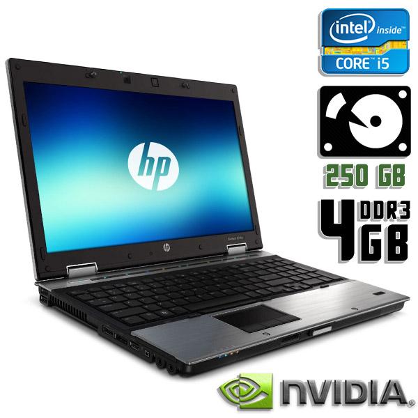 Ноутбук б/у 15,6″ HP EliteBook 8540p - Core i5 520M / NVS 5100M / 4Gb ОЗУ DDR3 / 250Gb HDD / камера