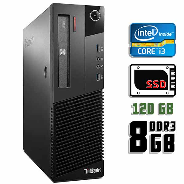 Компьютер б/у Lenovo ThinkCentre M83 SFF - Core i3 4130 / 8Gb ОЗУ DDR3 / 120Gb SSD