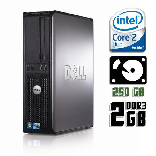 Компьютер б/у DELL OptiPlex 380SFF slim / 2-ядерный / 2Gb ОЗУ DDR3 / 250Gb HDD