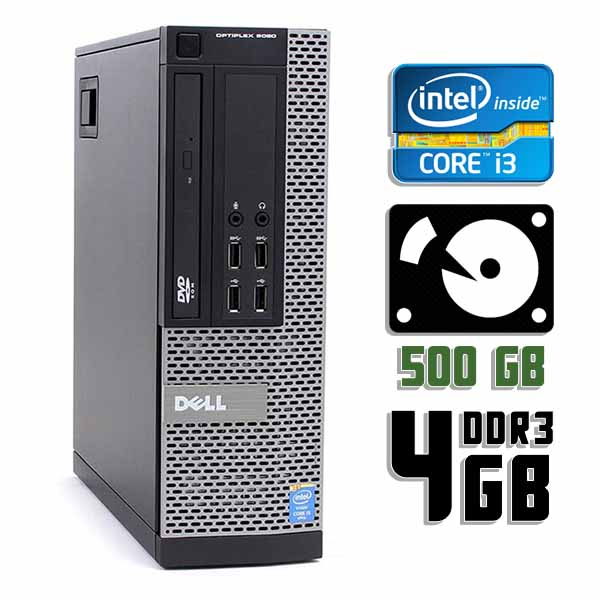 Компьютер б/у Dell OptiPlex 9020 SFF - Core i3 4130 / 4Gb ОЗУ DDR3 / 500Gb HDD