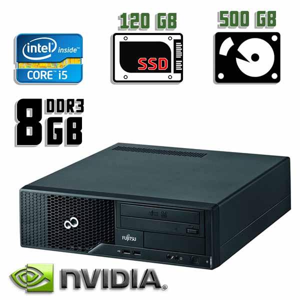 Игровой компьютер б/у Fujitsu Esprimo E500 - Core i5 2400 / GT 710 / 8Gb ОЗУ DDR3 / SDD+HDD