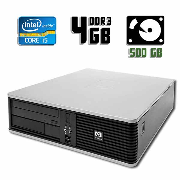 Компьютер б/у HP Compaq DC5800 SFF / Core i5 2400 / 4Gb ОЗУ DDR3 / 500Gb HDD