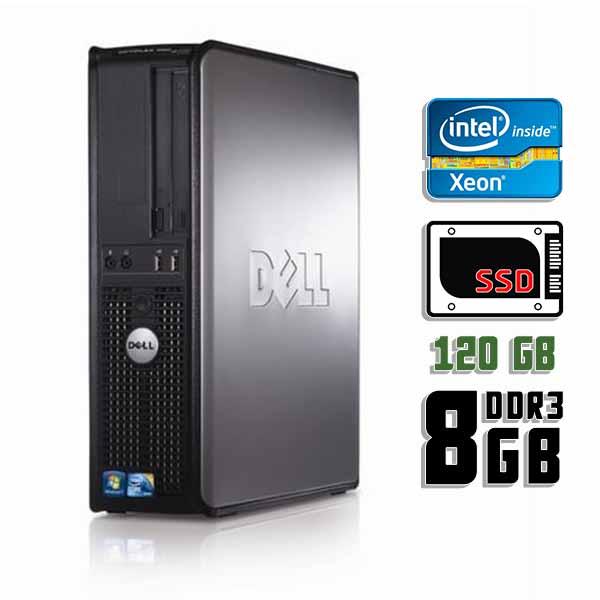 Компьютер б/у DELL OptiPlex 380SFF slim / 4-ядерный / 8Gb ОЗУ DDR3 / 120Gb SSD