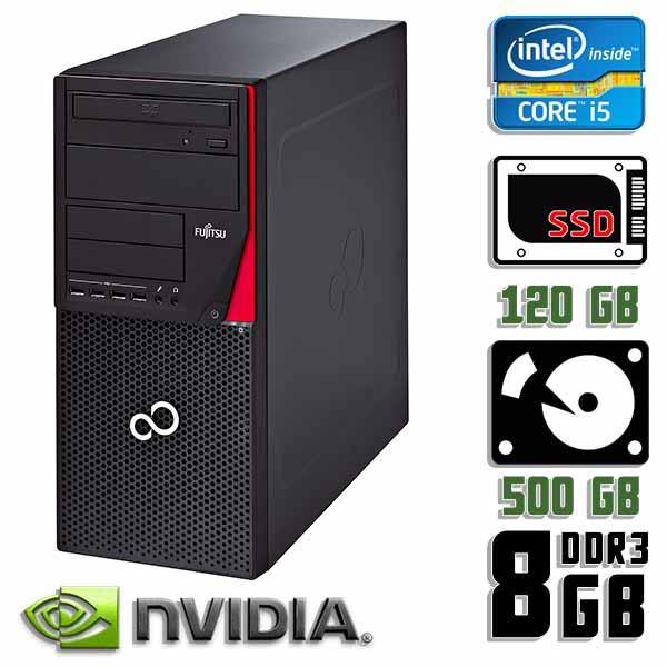 Игровой компьютер б/у Fujitsu Esprimo P720 E85+ / Core i5 4Gen / GTX 750 Ti / 8Gb ОЗУ DDR3 / SDD+HDD