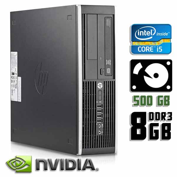 Игровой компьютер б/у HP Compaq 8200 Elite SFF / Core i5 2400 / GT 710 / 8Gb ОЗУ DDR3 / 500Gb HDD