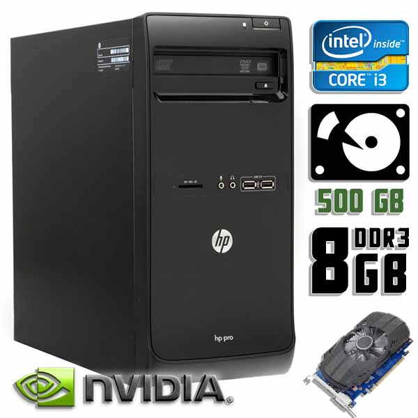 Компьютер б/у HP Pro 3500 - Core i3 3220 / GT 710 / 8Gb ОЗУ DDR3 / 500Gb HDD