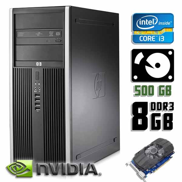 Игровой компьютер б/у HP Compaq 8200 Elite - Core i3 2120 / GT 710 / 8Gb ОЗУ DDR3 / 500Gb HDD