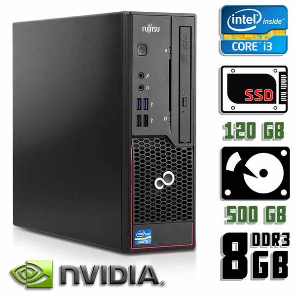 Игровой компьютер б/у Fujitsu Esprimo C720 - Core i3 4130 / GT 710 / 8Gb ОЗУ DDR3 / SDD+HDD