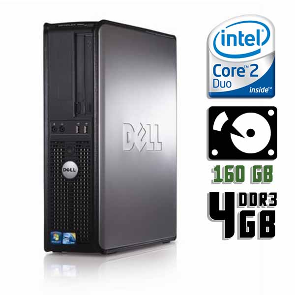 Компьютер б/у DELL OptiPlex 380SFF slim / 2-ядерный / E8400 / 4Gb ОЗУ DDR3 / 160Gb HDD