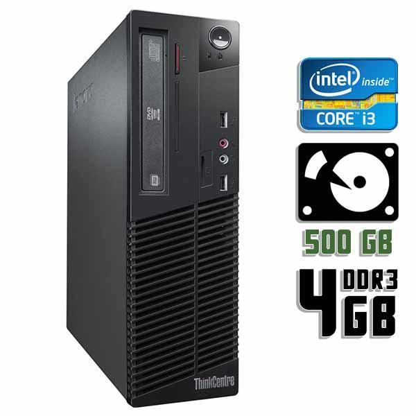Компьютер б/у Lenovo ThinkCentre M71e SFF / Core i3 2100 / 4Gb ОЗУ / HDD 500Gb