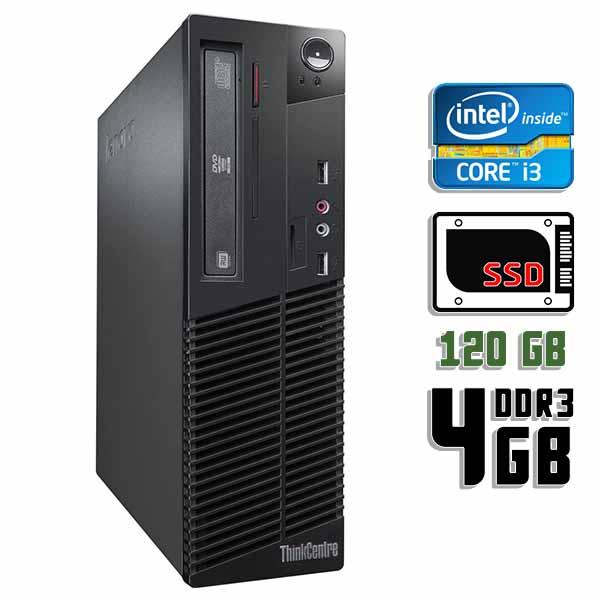 Компьютер б/у Lenovo ThinkCentre M71e SFF / Core i3 2100 / 4Gb ОЗУ / SSD 120Gb