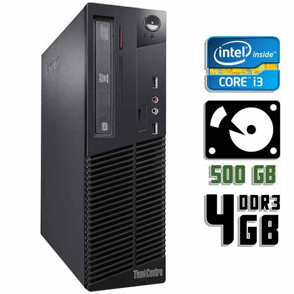 Компьютер б/у Lenovo ThinkCentre M72e SFF / Core i3 3220 / 4Gb ОЗУ / HDD 500Gb