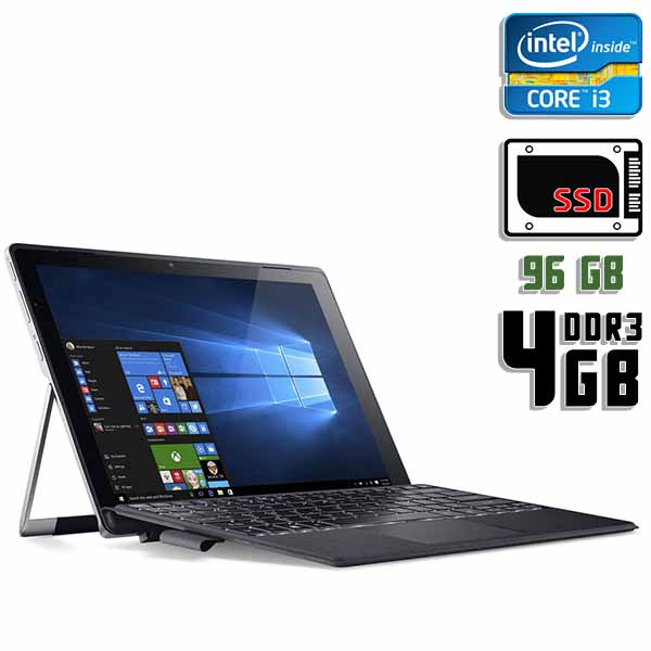 Ноутбук б/у 12″ Acer Switch Alpha 12 / Core i3 6100U / 4Gb ОЗУ DDR3 / 96Gb SSD / Трансформер / камера