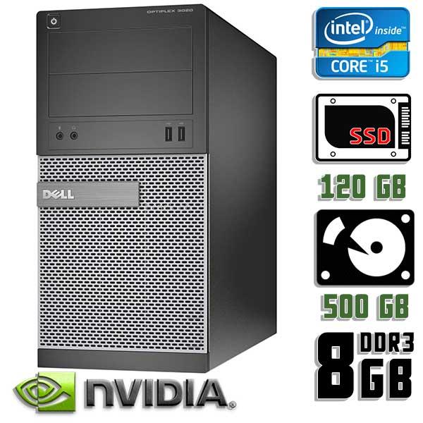 Игровой компьютер б/у Dell Optiplex 3020 / Core i5 4570 / GTX 1060 / 8Gb ОЗУ DDR3 / SDD+HDD