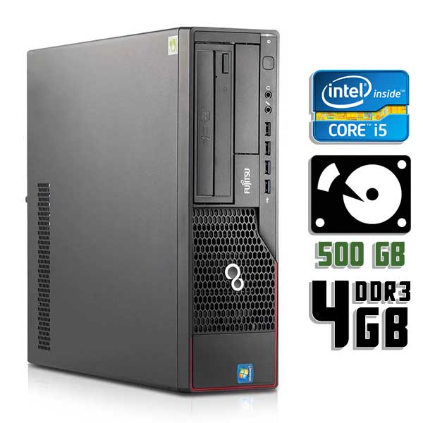 Компьютер б/у Fujitsu Esprimo E710 SFF / Core i5 2400 / 4Gb ОЗУ DDR3 / 500Gb HDD