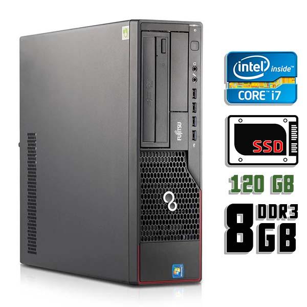 Компьютер б/у Fujitsu Esprimo E710 SFF / Core i7 2600 / 8Gb ОЗУ DDR3 / 120Gb SSD