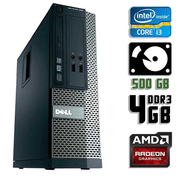 Игровой компьютер б/у Dell Optiplex 390 SFF / Core i3 2120 / Radeon HD / 4Gb ОЗУ DDR3 / 500Gb HDD