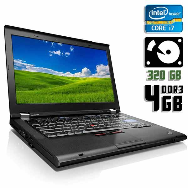 Ноутбук б/у 14,1″ Lenovo ThinkPad T420 - Core i7 2640M / 4Gb ОЗУ DDR3 / 320Gb HDD / камера