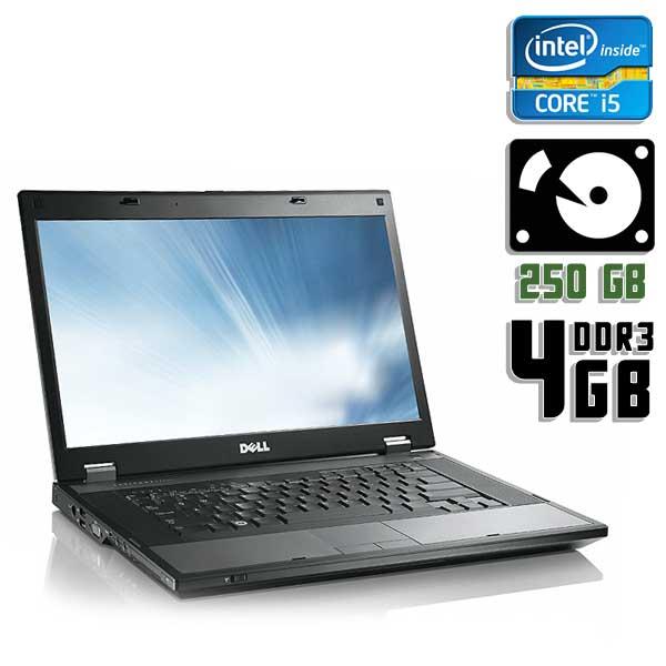 Ноутбук б/у 15,6″ Dell Latitude E5510 - Core i5 520M / 4Gb ОЗУ DDR3 / 250Gb HDD / камера