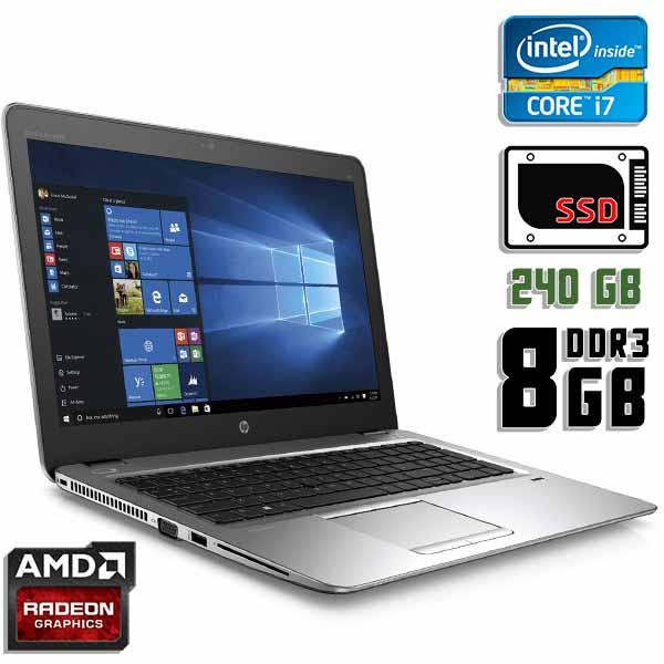 Игровой ноутбук б/у 15.6″ HP EliteBook 850 G3 / Core i7 6600U / 8Gb DDR3 / Radeon R7 / 240Gb SSD