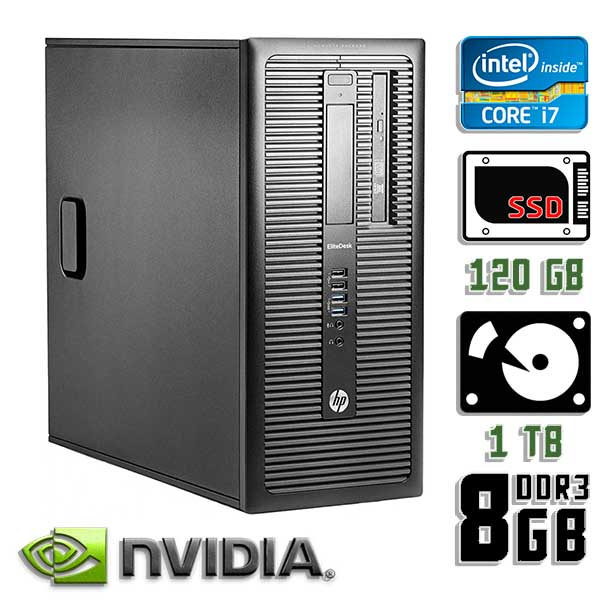 Игровой компьютер б/у HP ProDesk 600 G1 / Core i7 4770k / GTX 1050 Ti / 8Gb ОЗУ DDR3 / SDD+HDD
