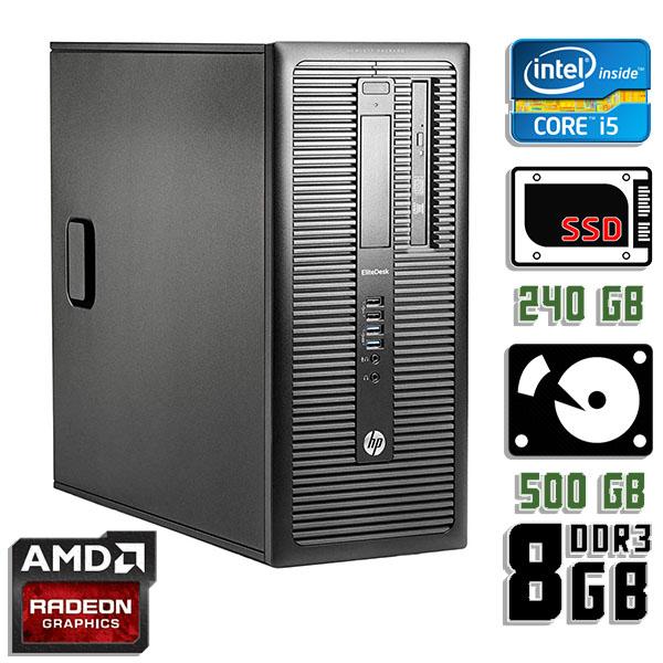 Игровой компьютер б/у HP ProDesk 600 G1 / Core i5 4570 / RX 570 / 8Gb ОЗУ DDR3 / SDD+HDD