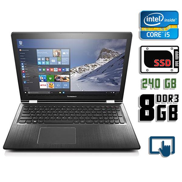 Ноутбук б/у 15,6″ Lenovo IdeaPad Flex 3-1580 - Core i5 6200U / 8Gb ОЗУ DDR3 / 240Gb SSD / камера