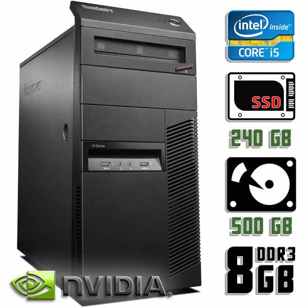 Игровой компьютер б/у Lenovo M83 / Core i5 4570 / GTX 1060 / 8Gb ОЗУ DDR3 / SSD+HDD