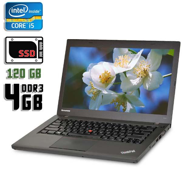 Ноутбук б/у 14,1″ Lenovo T440 - Core i5 4300M / 4Gb ОЗУ DDR3 / 120Gb SSD / камера