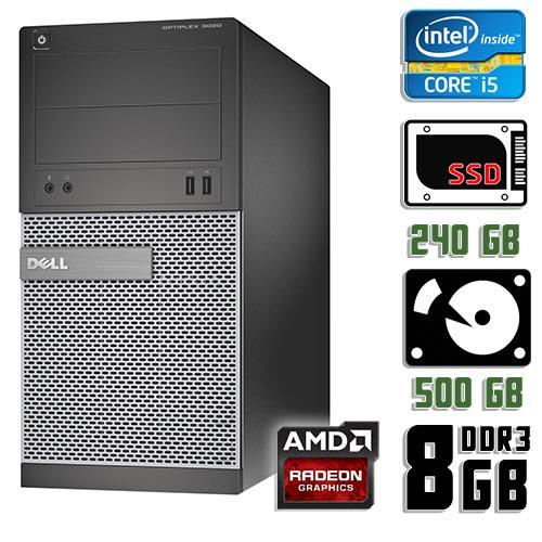 Игровой компьютер б/у Dell Optiplex 3020 / Core i5 4570 / RX 570 / 8Gb ОЗУ DDR3 / SDD+HDD