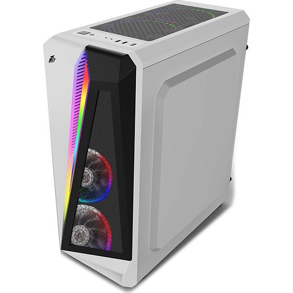 Игровой компьютер 1stPlayer R5-3R1-WH Color LED White - Core i3 10100F / RX 580 / 16Gb ОЗУ DDR4 / SSD+HDD