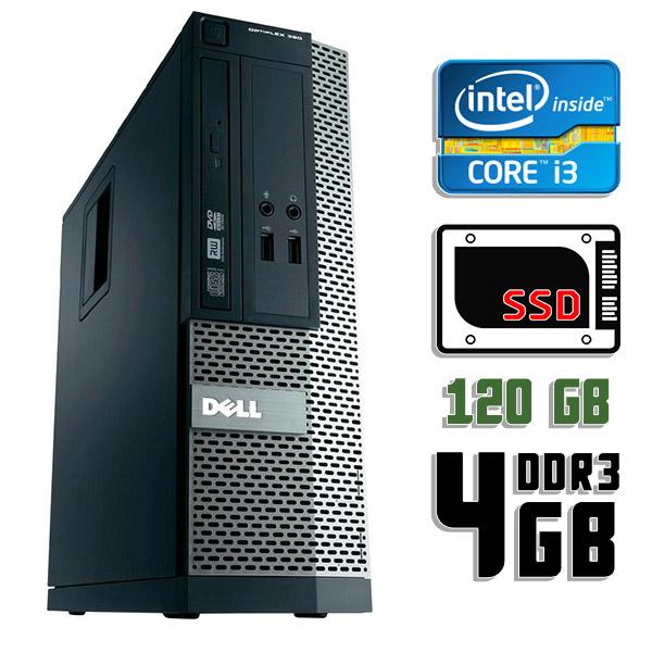 Компьютер б/у Dell Optiplex 390 SFF / Core i3 2100 / 4Gb ОЗУ DDR3 / 120Gb SSD