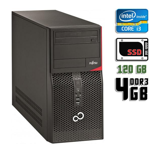 Компьютер б/у Fujitsu Esprimo P420 E85 / Core i3 4Gen / 4Gb ОЗУ DDR3 / 120Gb SSD