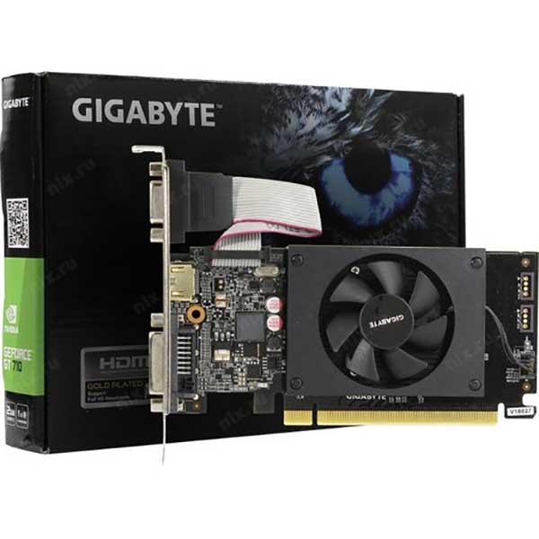 Игровая видеокарта новая Gigabyte GeForce GT 710 - 1GB GDDR5