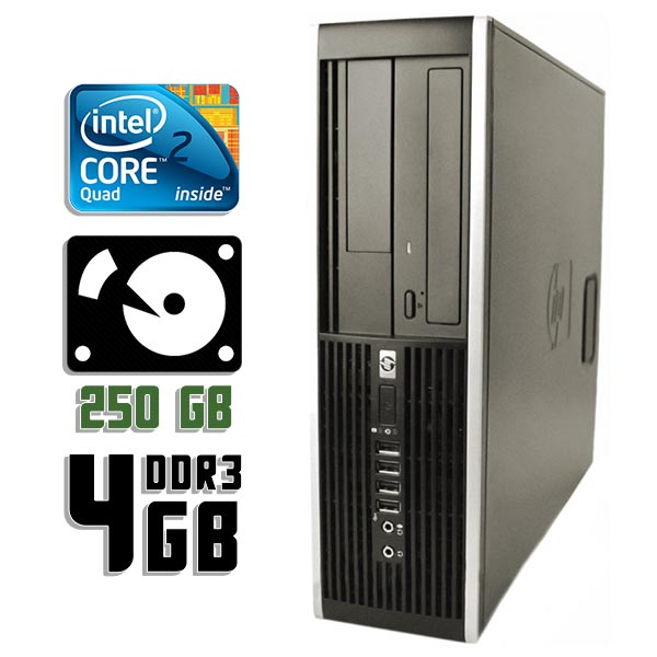 Компьютер б/у HP Compaq 8000 Elite SFF / 4-ядерный / 4Gb ОЗУ DDR3 / 250Gb HDD