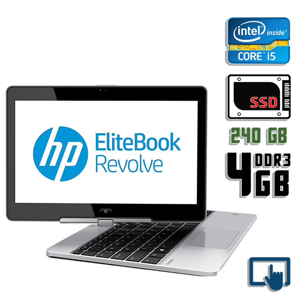 Ноутбук б/у 11.6″ HP EliteBook Revolve 810 / Core i5 4200U / 4Gb ОЗУ DDR3 / 240Gb SSD / Трансформер / камера