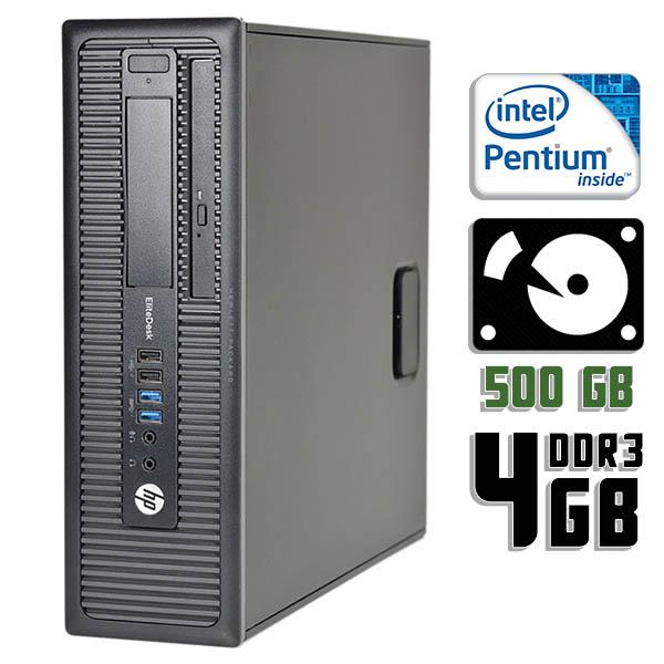 Компьютер б/у HP EliteDesk 800 G1 SFF / Pentium G3420 / 4Gb ОЗУ DDR3 / 500Gb HDD