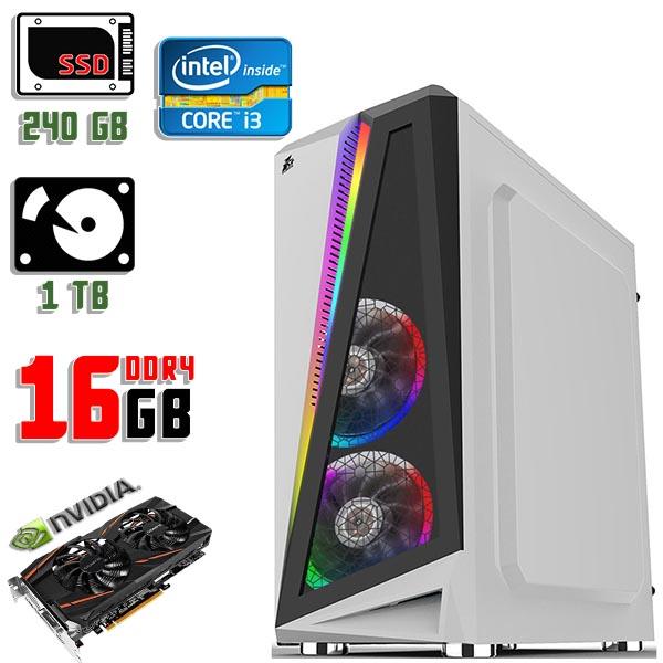 Игровой компьютер 1stPlayer R5-3R1-WH Color LED White - Core i3 10100F / GTX 1060 / 16Gb ОЗУ DDR4 / SSD+HDD