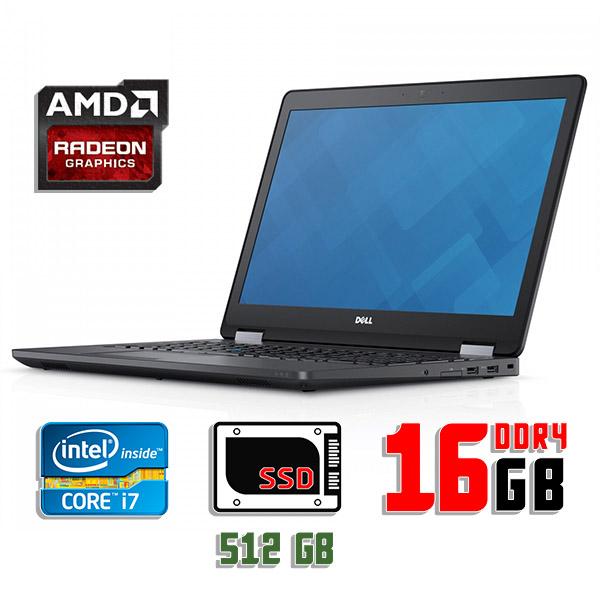 Игровой ноутбук б/у 15.6″ Dell Precision 3510 - Core i7 6820HQ / 16Gb DDR4 / FirePro / 512Gb SSD