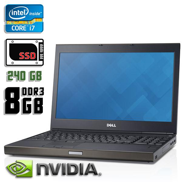 Игровой ноутбук б/у 15,6″ Dell Precision M4800 - Core i7 4800M / Quadro K1100M / 8Gb ОЗУ DDR3 / 240Gb SSD