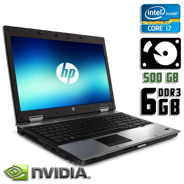 Игровой ноутбук б/у 15,6″ HP EliteBook 8540p - Core i7 720QM / NVS 5100M / 6Gb ОЗУ DDR3 / 500Gb