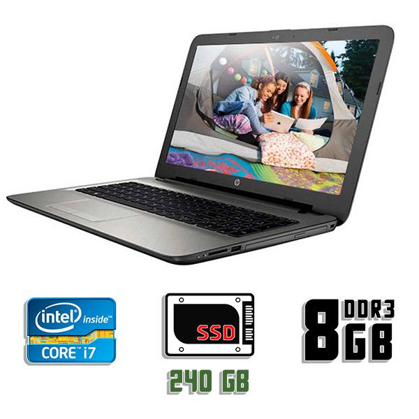 Ноутбук б/у 15,6″ HP Pavilion 15-AC040ND - Core i7 5500U / 8Gb ОЗУ DDR3 / SSD 240Gb / камера