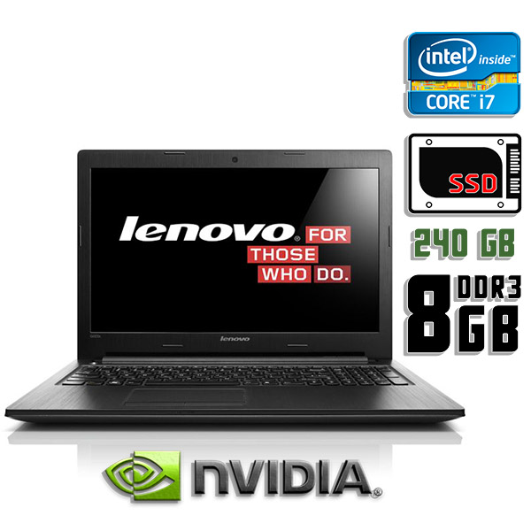 Игровой ноутбук б/у 15.6″ Lenovo G500s / Core i7 3612QM / 8Gb DDR3 / GeForce GT 720 / 240Gb SSD