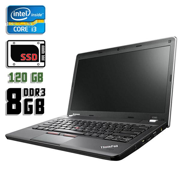 Ноутбук б/у 13,3″ Lenovo ThinkPad Edge E330 - Core i3 3120M / 8Gb ОЗУ DDR3 / 120Gb SSD / камера