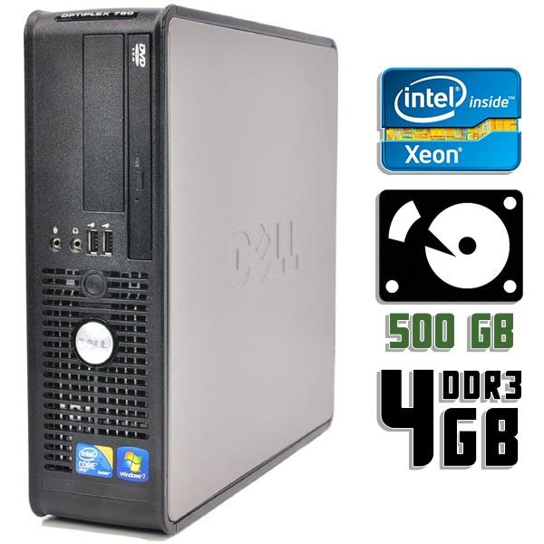 Компьютер б/у DELL OptiPlex 780SFF / Xeon / 4-ядерный / 4Gb ОЗУ DDR3 / 500Gb HDD